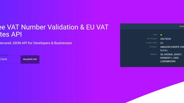 free vat number validation eu vat rates